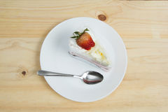 Top view of strawberry cake. Dessert Stock Images