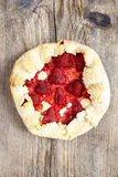 Top view of strawberry galette Stock Photo