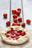 Top view of strawberry galette Stock Photos