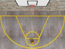 Top view of Street basketball stock illustration