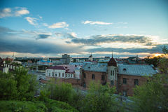 Top view of street in Tomsk, Russia Royalty Free Stock Photography