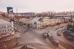 Top view of the streets of Kiev Stock Photo