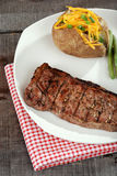 Top view strip loin steak Royalty Free Stock Photo