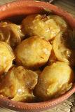 Top View of Stuffed Potatoes in Tamarind Sauce Stock Photography