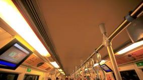 Top view of Subway cart. HD. 1920x1080. Top view of Subway cart in Bangkok stock video