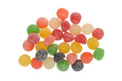 Top view sugar coated gum drops Stock Images