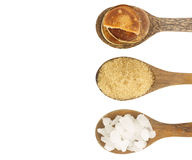 Top view of  sugar  isolated on white Royalty Free Stock Image