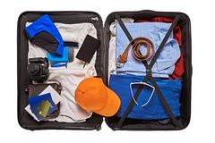 Accessories for tourist Royalty Free Stock Images