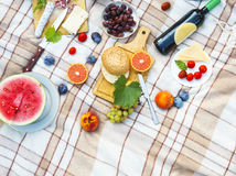 Top view summer garden picnic. Summer party Royalty Free Stock Photo