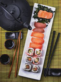 Top view of sushi set Royalty Free Stock Photography