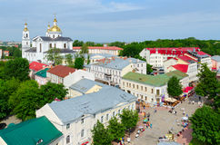 Top view of Suvorov Street and Holy Assumption Cathedral, Vitebs Stock Photos