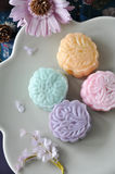 Top View of Sweet color Mooncake Royalty Free Stock Images