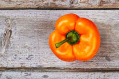 Top view on sweet pepper. Royalty Free Stock Photography