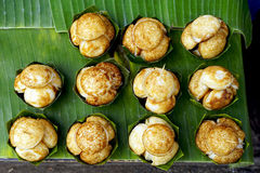 Top view of Sweet and Savory Grilled Coconut Stock Images