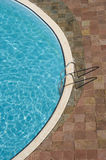 Top view of a swimming pool Royalty Free Stock Photos