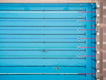 Top view of swimming pool. Captured top view of swimming pool Royalty Free Stock Images