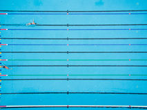 Top view of swimming pool. Captured top view of swimming pool and 2 swimmer Royalty Free Stock Photo