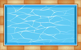 Top view of swimming pool Stock Images