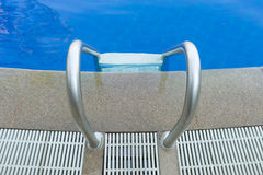 Top view swimming pool stair at hotel Stock Photography