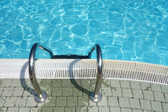 Top view Swimming Pool Water Ladder Stock Photo