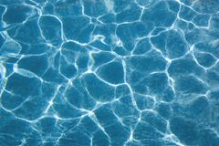 Top view at a swimmingpool Royalty Free Stock Photography