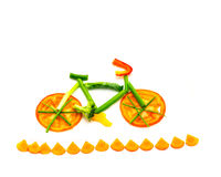 Vegetable bike trail Royalty Free Stock Image