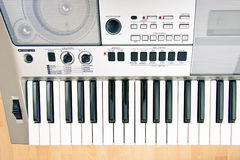 The top view at synthesizer Royalty Free Stock Image
