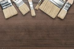 Brushes on the table Royalty Free Stock Photos