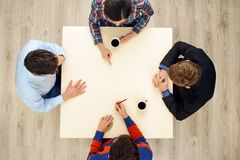 Top view table with group of young people Stock Images