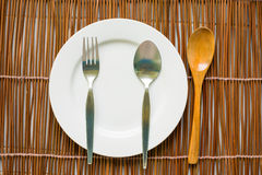 Top view of tableware for eating Stock Photography