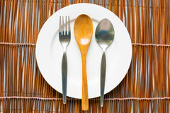 Top view of tableware for eating Stock Images