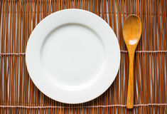 Top view of tableware for eating Stock Image