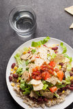 Top view of Taco Salad Royalty Free Stock Image