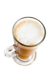 Top view of tall glass coffee Stock Photos