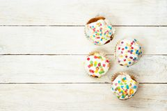 Top view of tasty cupcakes Stock Image