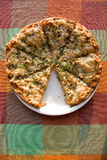 Top view tasty  hot italian pizza Royalty Free Stock Image