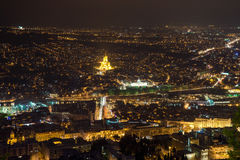 Top view of the Tbilisi Stock Image