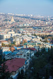 Top view  in Tbilisi Royalty Free Stock Photography