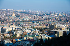 Top view  in Tbilisi Royalty Free Stock Image