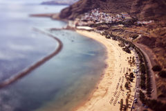 Top view of Tenerife Beach Stock Images