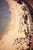 Top view of Tenerife Beach Stock Photography
