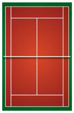 Top view of tennis court Royalty Free Stock Photo
