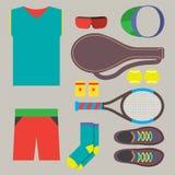 Top View Tennis Men's Gears. Stock Photo