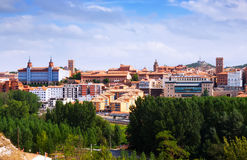 Top view of Teruel  in summer Royalty Free Stock Image
