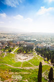 Top view of Theatro Dionisou in Athens, Greece Royalty Free Stock Photos