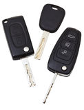 Top view of three vehicle keys Stock Image