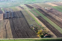 Top view of tilth field Stock Photography