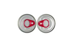 Top view tin can with ring pull Stock Image