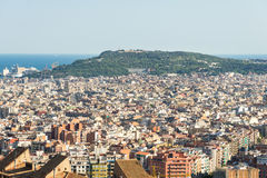 Top view to Barcelona Stock Photo