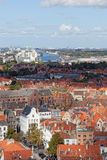 Top view to Bruges Stock Photos